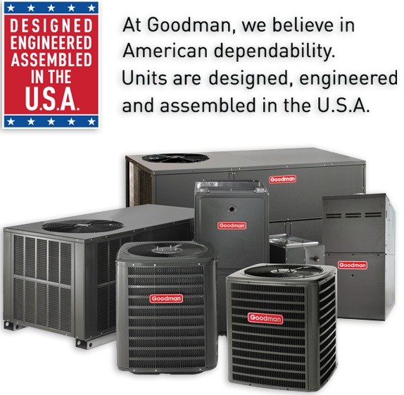 Find Goodman air conditioning and heating units with SMP Heating & AC in Elk River MN and Zimmerman MN.